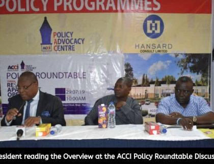 ACCI Policy Roundtable Discussion