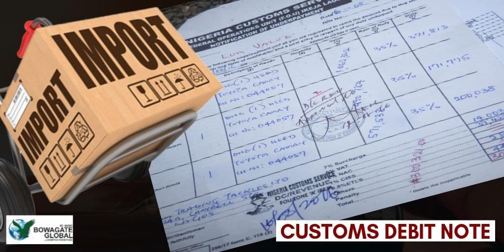 Customs Debit Note